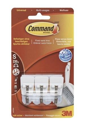 """3M SCOTCH Mini műanyag akasztó fém kampóval, 3M """"Command"""""""