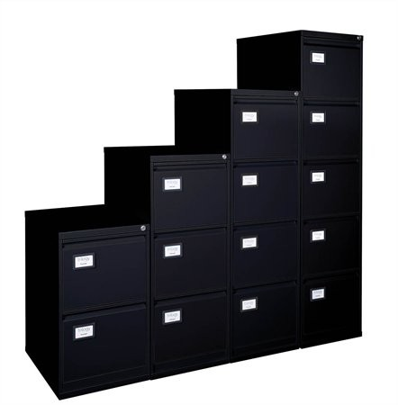 VICTORIA Függőmappatároló fémszekrény, 2 fiókos, VICTORIA, fekete