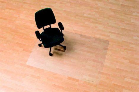"""RS OFFICE Székalátét, kemény felületre, E forma, 90x120 cm,  RS OFFICE """"Ecoblue"""""""
