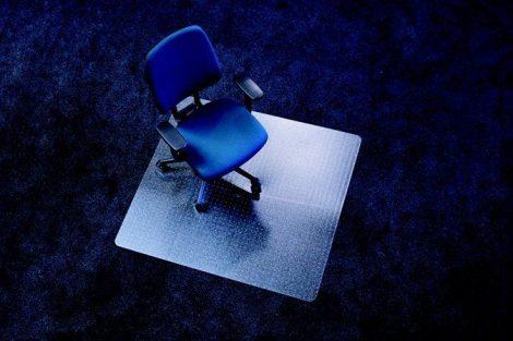 """RS OFFICE Székalátét, szőnyegre, E forma, 90x120 cm, """"Ecoblue"""""""