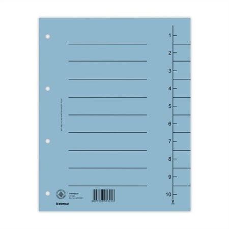 DONAU Regiszter, karton, A4, DONAU, kék