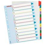 ESSELTE Regiszter, laminált karton, A4 Maxi, 1-12, újraírható, ESSELTE