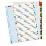 ESSELTE Regiszter, laminált karton, A4 Maxi, 1-31, újraírható, ESSELTE