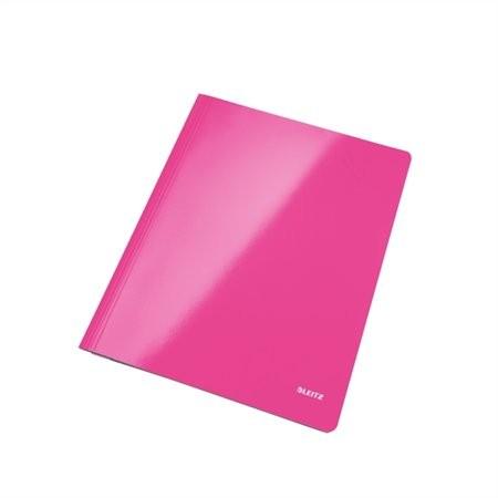 """LEITZ Gyorsfűző, laminált karton, lakkfényű, A4, LEITZ """"Wow"""", rózsaszín"""