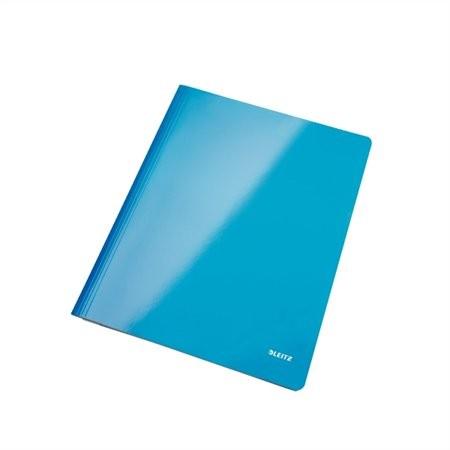 """LEITZ Gyorsfűző, laminált karton, lakkfényű, A4, LEITZ """"Wow"""", kék"""