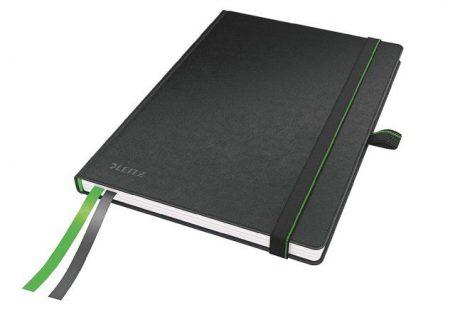 """LEITZ Jegyzetfüzet, exkluzív, A5, kockás, 80 lap, keményfedeles, LEITZ """"Complete"""", fekete"""