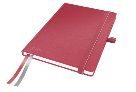 """LEITZ Jegyzetfüzet, exkluzív, A5, vonalas, 80 lap, keményfedeles, LEITZ """"Complete"""", piros"""