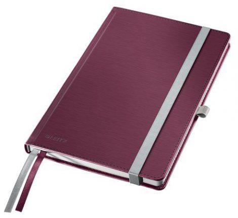 """LEITZ Jegyzetfüzet, A5, vonalas, 80 lap, keményfedeles, LEITZ """"Style"""", gránátvörös"""