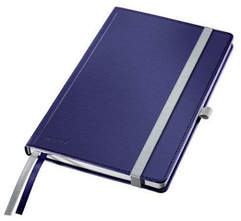 """LEITZ Jegyzetfüzet, A5, kockás, 80 lap, keményfedeles, LEITZ """"Style"""", titánkék"""