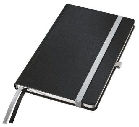 """LEITZ Jegyzetfüzet, A5, kockás, 80 lap, keményfedeles, LEITZ """"Style"""", szaténfekete"""