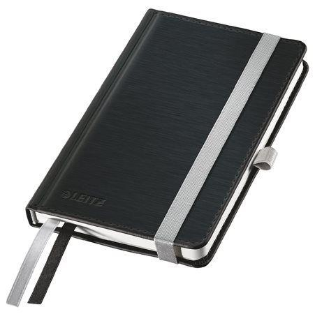 """LEITZ Jegyzetfüzet, A6, vonalas, 80 lap, keményfedeles, LEITZ """"Style"""", szaténfekete"""