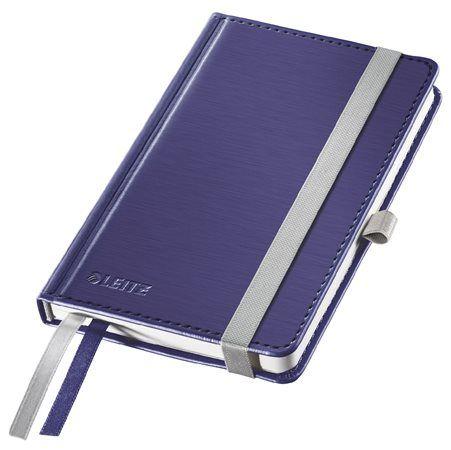 """LEITZ Jegyzetfüzet, A6, kockás, 80 lap, keményfedeles, LEITZ """"Style"""", titánkék"""