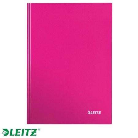 """LEITZ Beíró, A5, kockás, 80 lap, keményfedeles, lakkfényű, LEITZ """"Wow"""", rózsaszín"""