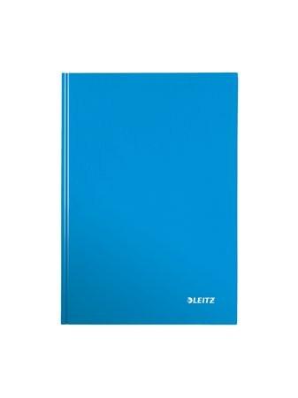 """LEITZ Beíró, A5, kockás, 80 lap, keményfedeles, lakkfényű, LEITZ """"Wow"""", kék"""