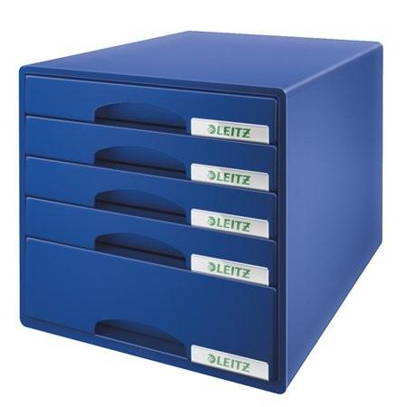 """LEITZ Irattároló, műanyag, 5 fiókos, LEITZ """"Plus"""", kék"""