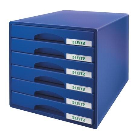 """LEITZ Irattároló, műanyag, 6 fiókos, LEITZ """"Plus"""", kék"""