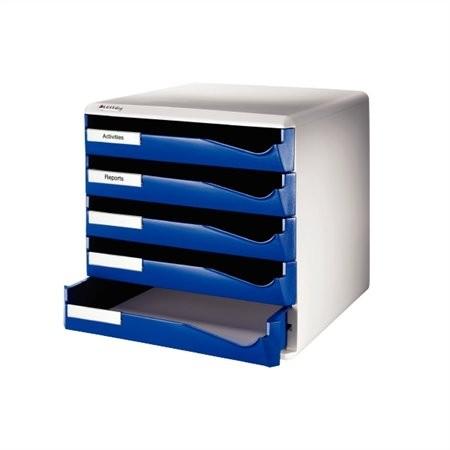 """LEITZ Irattároló, műanyag, 5 fiókos, LEITZ """"Standard"""", kék"""