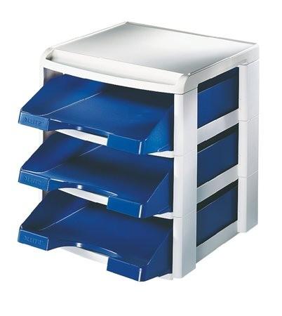 """LEITZ Irattálca, műanyag, 3 fiókos, LEITZ """"Plus"""", kék"""