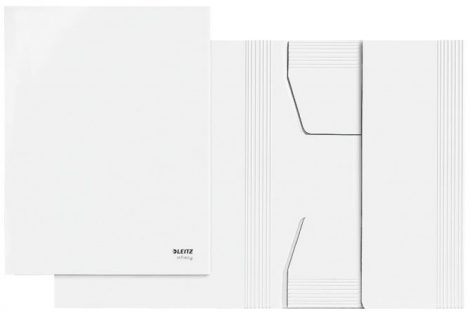 """Pólyás dosszié, újrahasznosított karton, A4, LEITZ """"Infinity"""", fehér"""