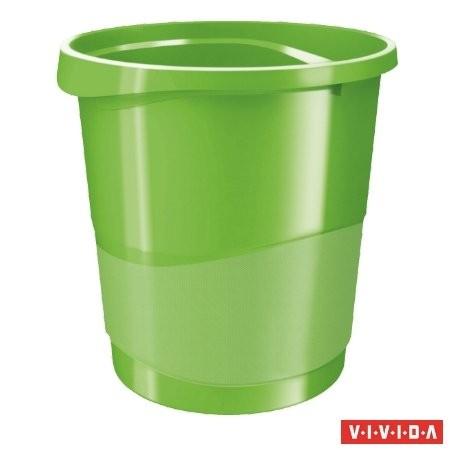 """ESSELTE Papírkosár, 14 liter, ESSELTE """"Europost"""", Vivida zöld"""