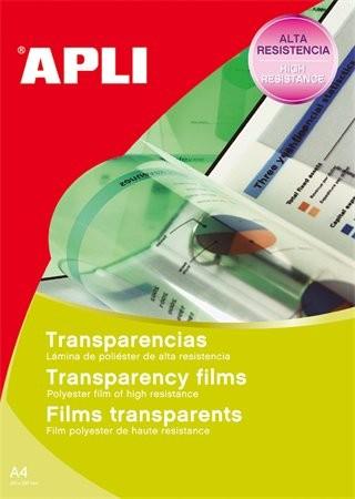 APLI Fólia, írásvetítőhöz, A4, fekete-fehér lézernyomtatóba, APLI