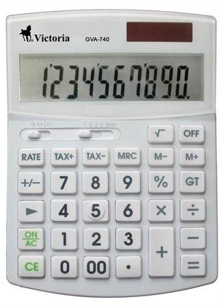 VICTORIA GVA-740 fehér számológép