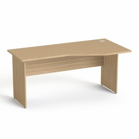 """MAYAH Íróasztal, íves, jobbos,  laplábbal, 160x80 cm, MAYAH """"Freedom SV-23"""", kőris"""