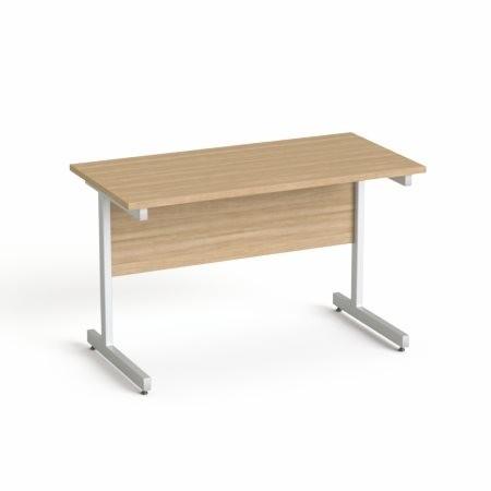 """MAYAH Íróasztal, szürke fémlábbal, 120x70 cm, MAYAH """"Freedom SV-25"""", kőris"""