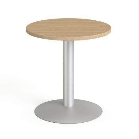"""MAYAH Tárgyalóasztal, kör, szürke fémlábbal, O 60 cm, MAYAH """"Freedom SV-57"""", kőris"""