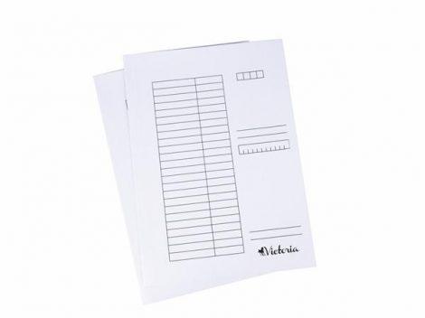 VICTORIA Pólyás dosszié, karton, A4