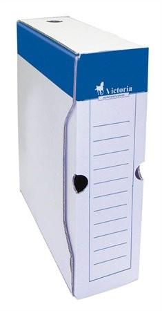 VICTORIA 80 mm, archiváló doboz, kék-fehér