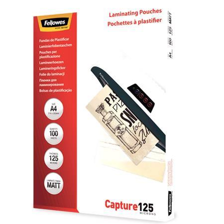 FELLOWES 125 mikron matt A4 meleglamináló fólia