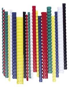 FELLOWES Spirál, műanyag, 25 mm, 181-200 lap, FELLOWES, 50 db, fehér