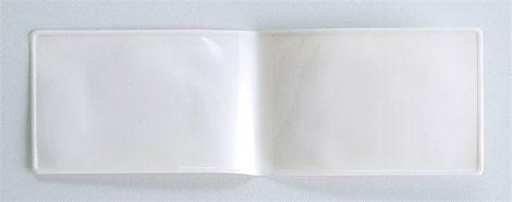 Diákigazolvány tok, PVC, fehér