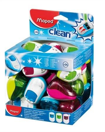 """MAPED Hegyező display, kétlyukú, tartályos, MAPED """"Clean"""", vegyes színek"""