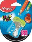 """MAPED Hegyező, kétlyukú, tartályos, tompára hegyező, MAPED """"Color'Peps"""", vegyes színekben"""