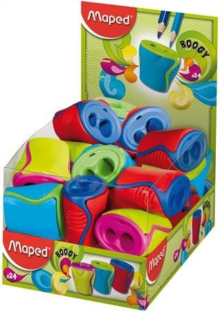 """MAPED Hegyező display, kétlyukú, tartályos, MAPED """"Boogy"""", vegyes színek"""