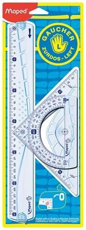 MAPED Vonalzókészlet, műanyag, 3 darabos, balkezes, MAPED