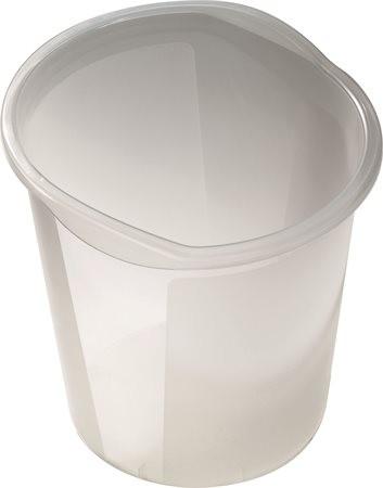 """HELIT Szemetes, 13 liter, HELIT """"Economy"""", áttetsző fehér"""