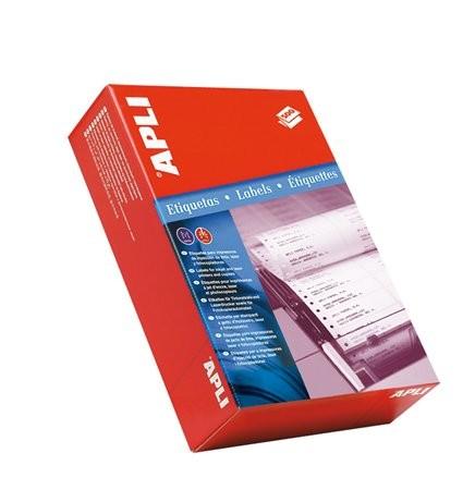 APLI Etikett, mátrixnyomtatókhoz, 1 pályás, 88,9x36 mm, APLI, 4000 etikett/csomag