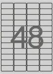 APLI Etikett, 45,7x21,2 mm, poliészter, időjárásálló, kerekített sarkú, APLI, ezüst, 960 etikett/csomag