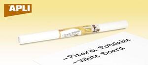APLI Öntapadó tábla, táblamarkerrel írható, APLI, fehér