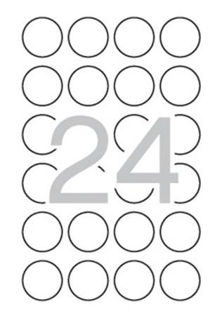 APLI Etikett, 40 mm kör, biztonsági, APLI, 240 etikett/csomag