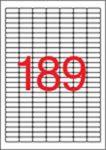 APLI Etikett, 25,4x10 mm, felülcímkézéshez (tökéletes fedés), 3780 etikett/csomag