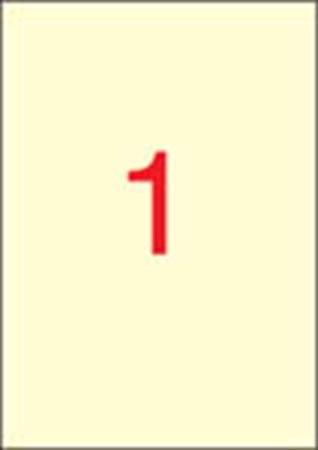 APLI Etikett, 210x297 mm, színes, APLI, krémszínű, 20 etikett/csomag