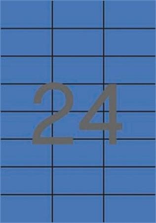 APLI Etikett, 70x37 mm, színes, APLI, kék, 2400 etikett/csomag