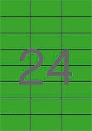 APLI Etikett, 70x37 mm, színes, APLI, zöld, 2400 etikett/csomag