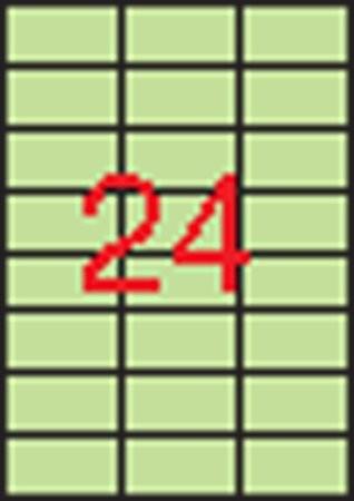 APLI Etikett, 70x37 mm, színes, APLI, pasztell zöld, 480 etikett/csomag