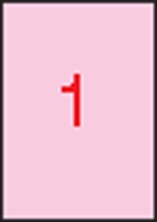APLI Etikett, 210x297 mm, színes, APLI, pasztell rózsaszín, 20 etikett/csomag