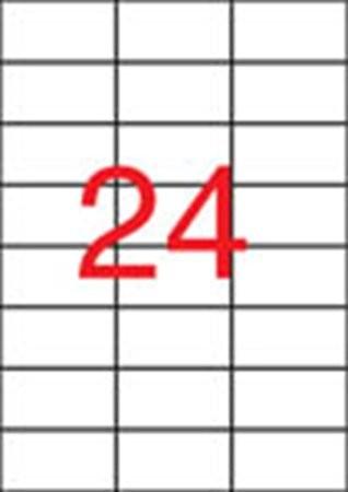 APLI Etikett, 70x37 mm, poliészter, időjárásálló, matt, APLI, áttetsző, 2400 etikett/csomag